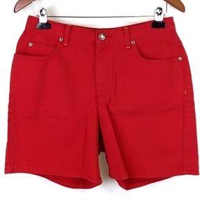 Liz Claiborne Shorts Classic Fit Red Size 10